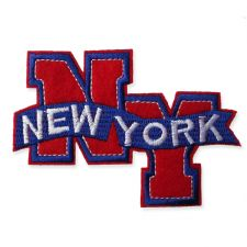 NEW YORK MOTIF IRON ON EMBROIDERED PATCH APPLIQUE